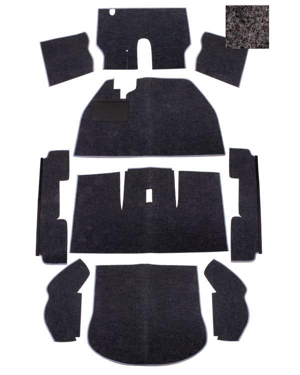 Carpet Set for Left Hand Drive Charcoal