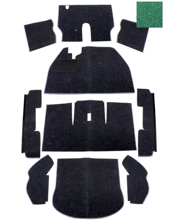 Teppichsatz für Linkslenker, grün