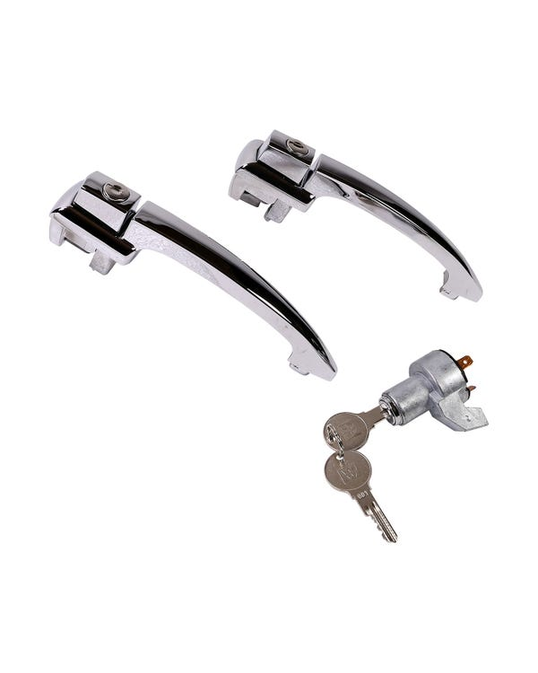 Chrome Lock Set, Ignition Lock, Door Handles