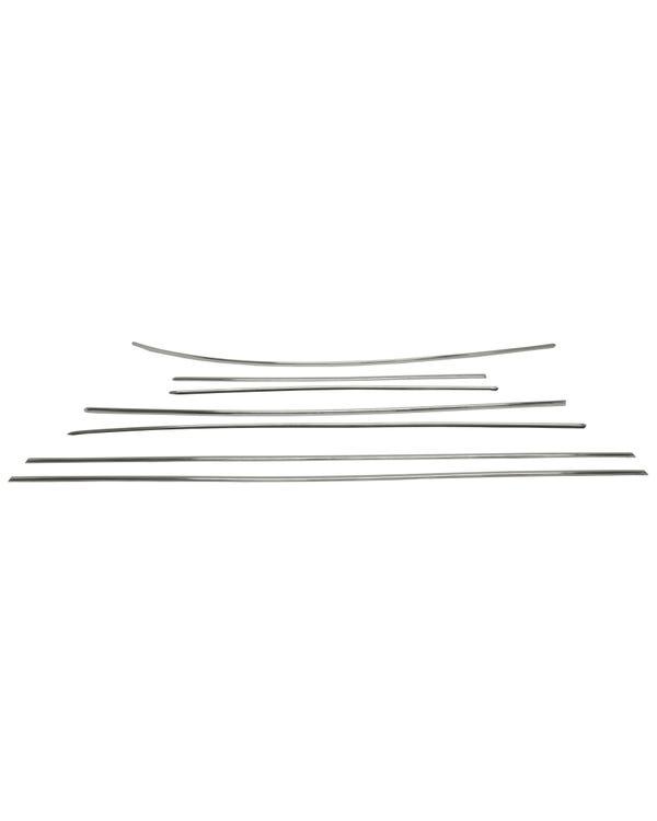Zierleistensatz 7 Teilig, Edelstahl