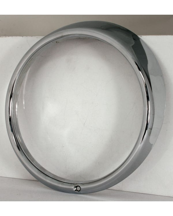 Headlight Rim in Stainless Steel with one Screw Hole