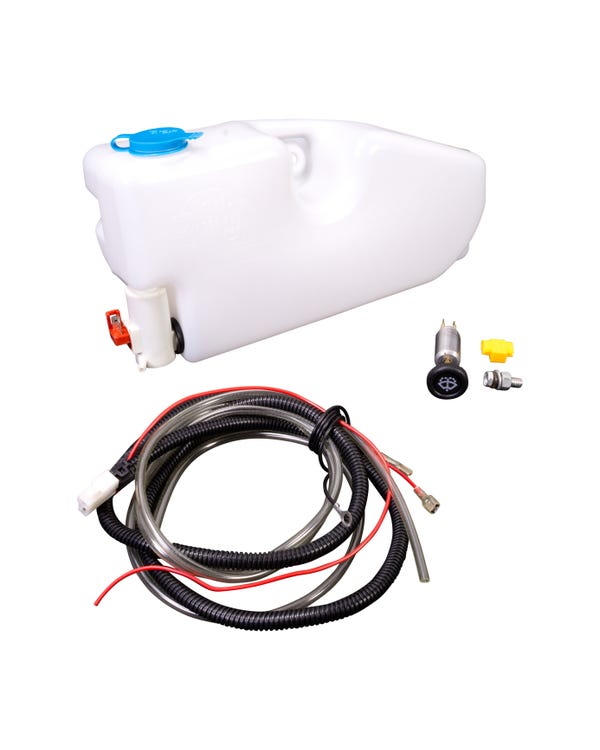 Washer Bottle with 12V Pump Inner fender Fitment