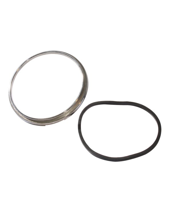Speedometer Chrome Trim Ring and Gasket