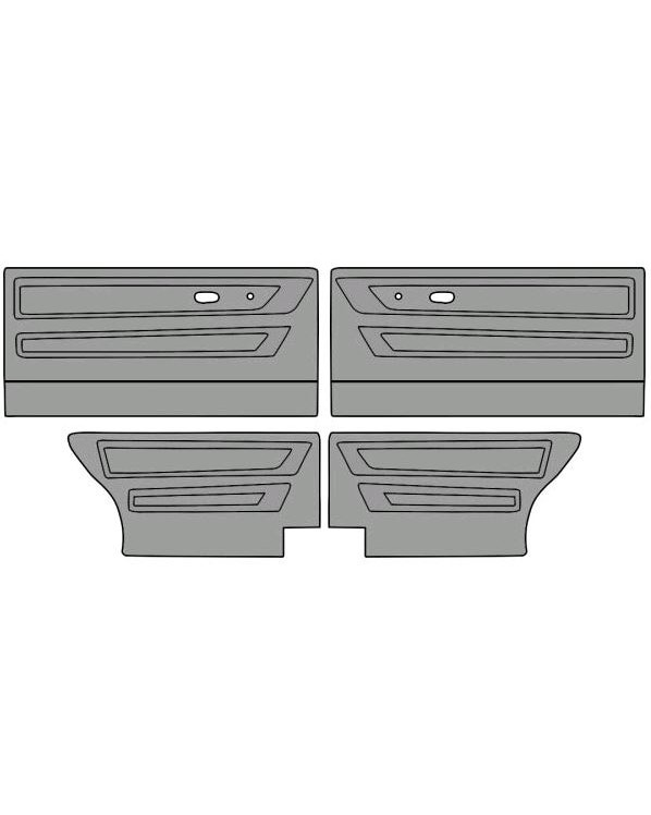 Door Card Set for Cabriolet Model in Two colors