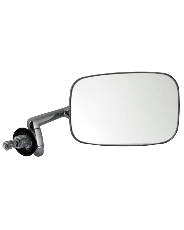 Wing Mirror with a Chrome Arm and Stainless Head Right for Right Hand Drive
