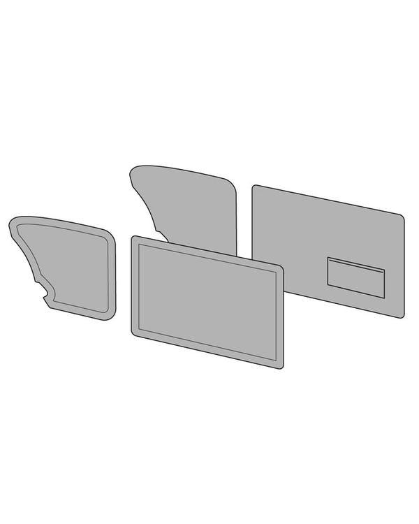 Door Card Set with Left Hand Door Pocket finished in Sport 2 Tone Style