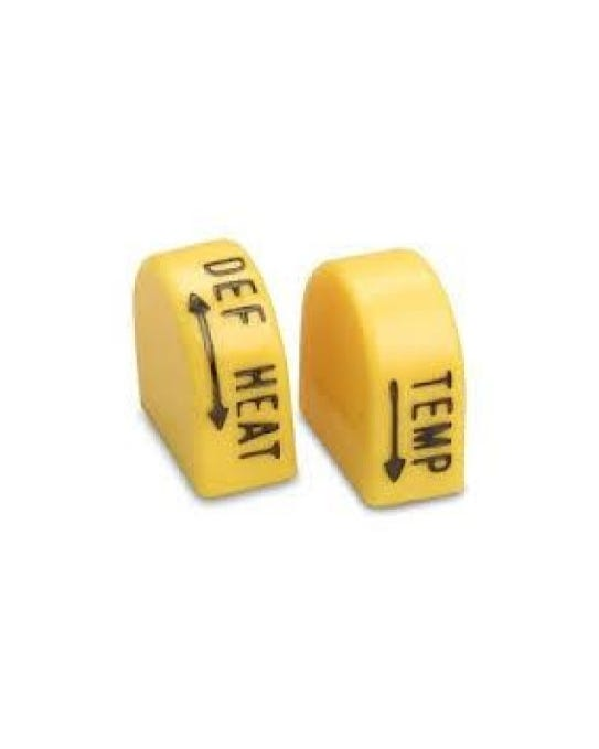 Yellow Heater Control Knobs US spec