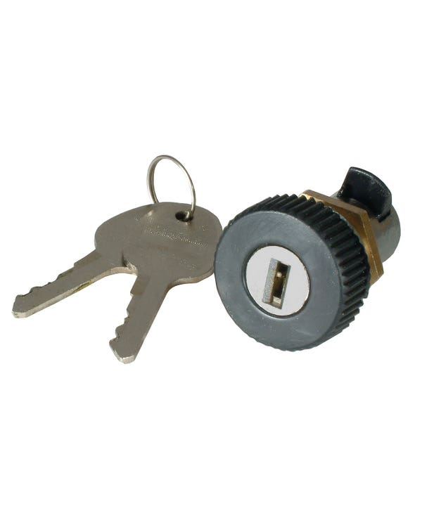 Glove Box Lock and Keys with a Round Turn Release