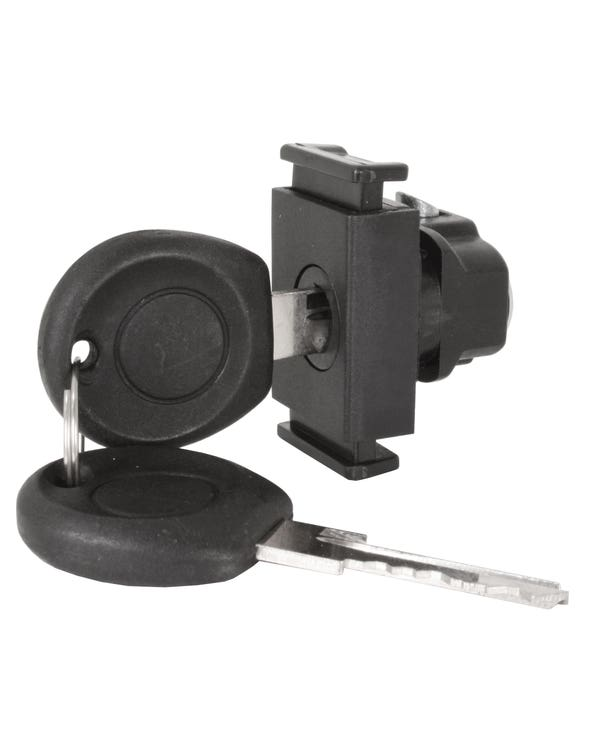 Glove Box Lock and Keys with a Pinch Release