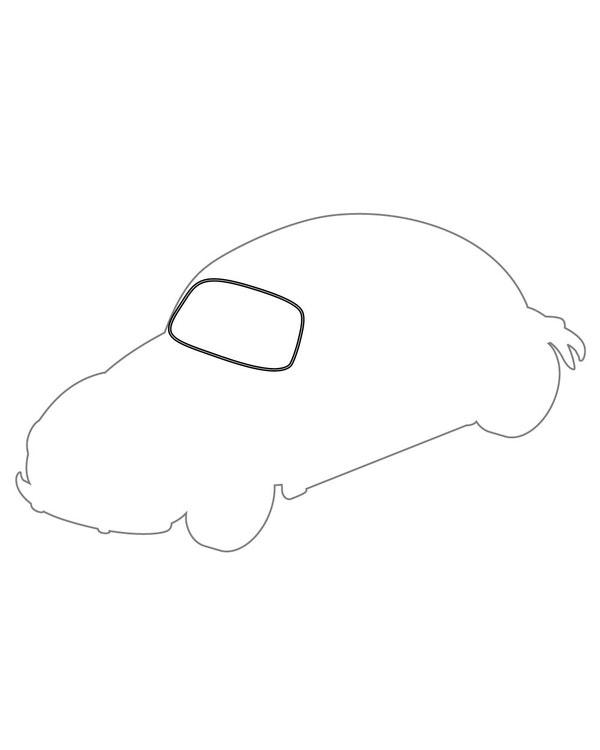 Windscreen Seal Deluxe for Plastic Trim 1303