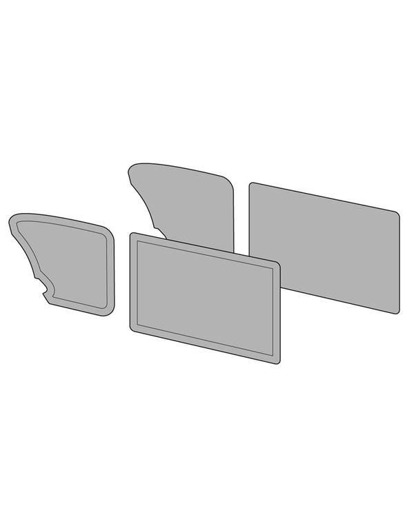 Conjunto de paneles para puertas sin bolsillo en la puerta, acabados en dos colores con línea horizontal