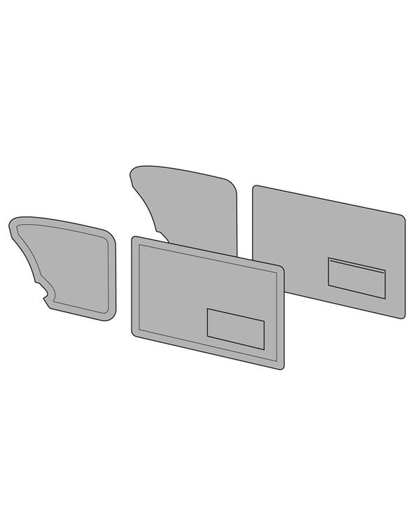 Door Card Set with Left Hand Door Pocket Finished in 2 Colours with Horizontal Stripe
