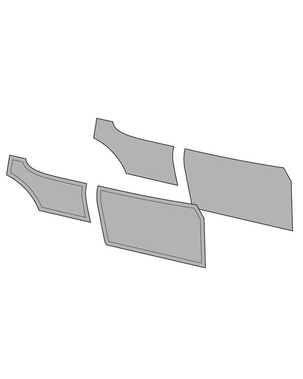 Door Card Set without Door Pockets for Coupe Finished in 2 Colours with Horizontal Stripe