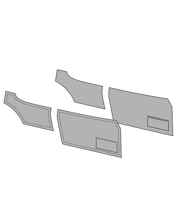 Door Card Set with Door Pockets for Coupe 2 Tone Horizontal