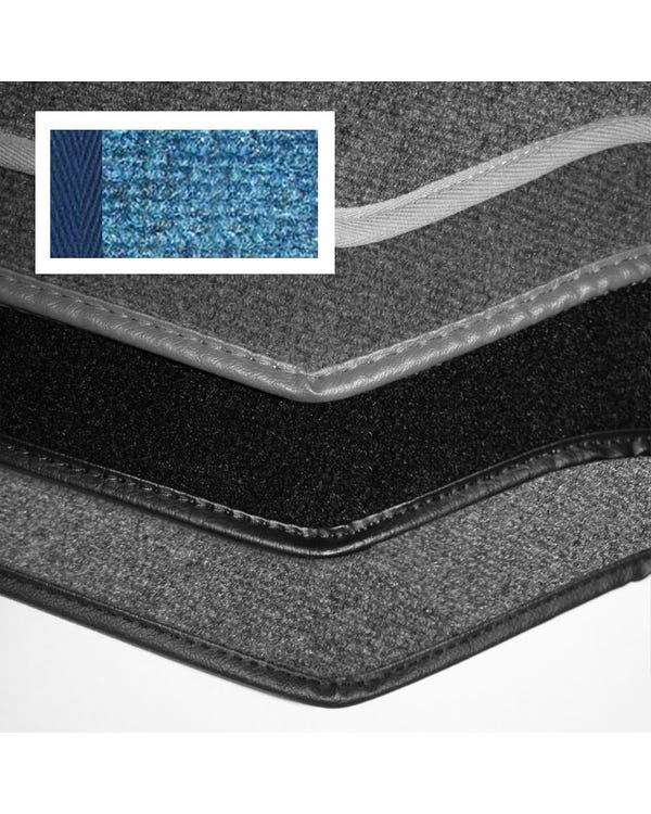 Carpet Set for Left Hand Drive Cabriolet Blue