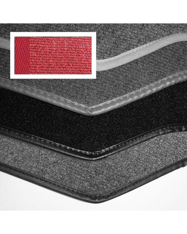Carpet Set for Right Hand Drive Cabriolet Red