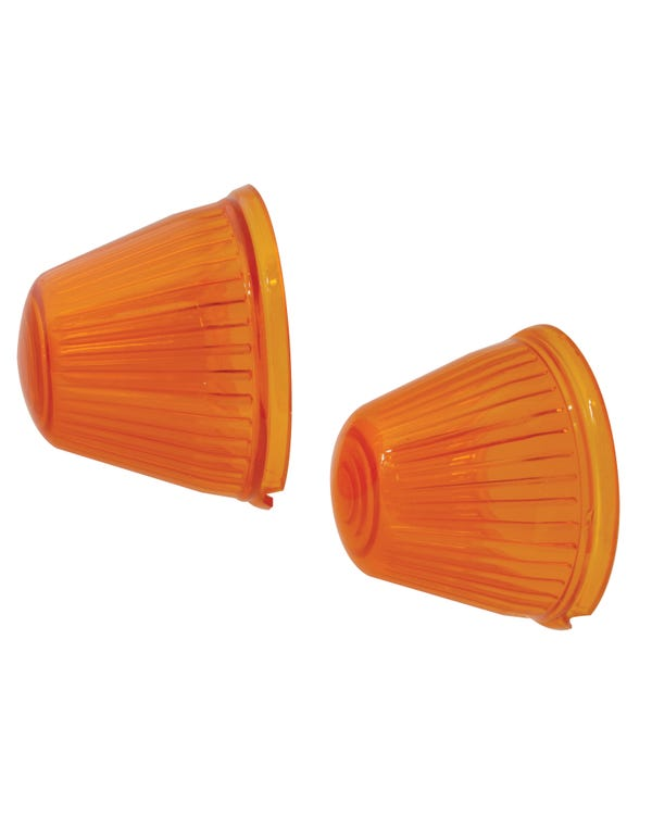 Bullet Front Indicator Lens Amber Pair