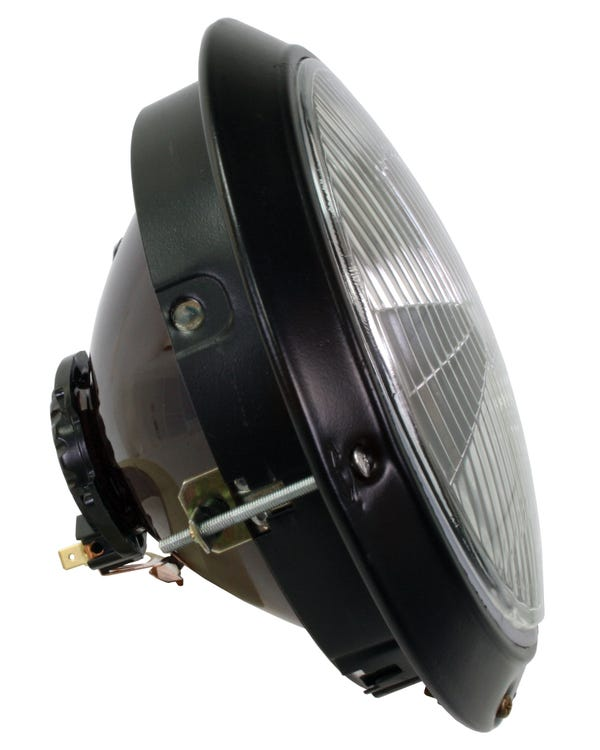 Headlight Assembly with Black Rim for European Model Right Hand Drive