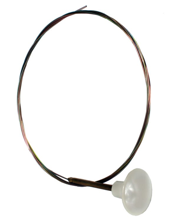 Engine lid, cable, white,56-74 Or use bonnet cable