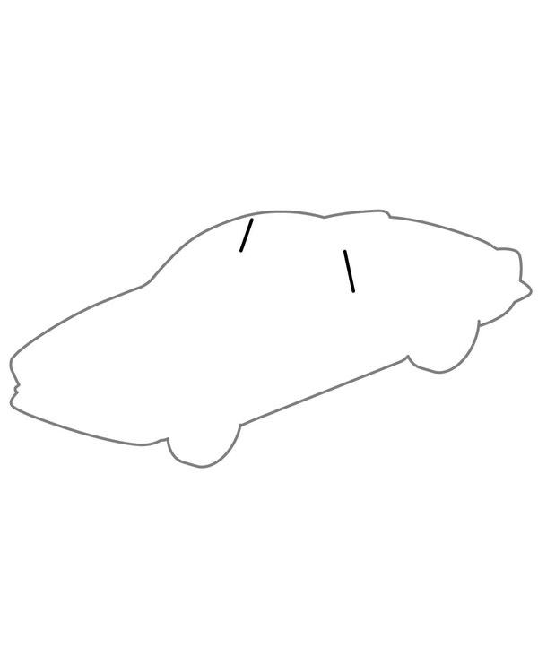 Goma, Luna trasera lateral, delantera, Pareja, T14 60-71