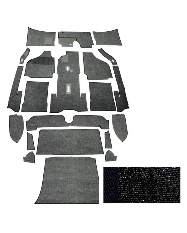 Carpet Set for Left Hand Drive Coupe Black