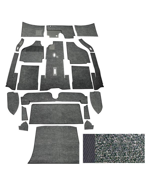 Carpet Set for Left Hand Drive Coupe Charcoal