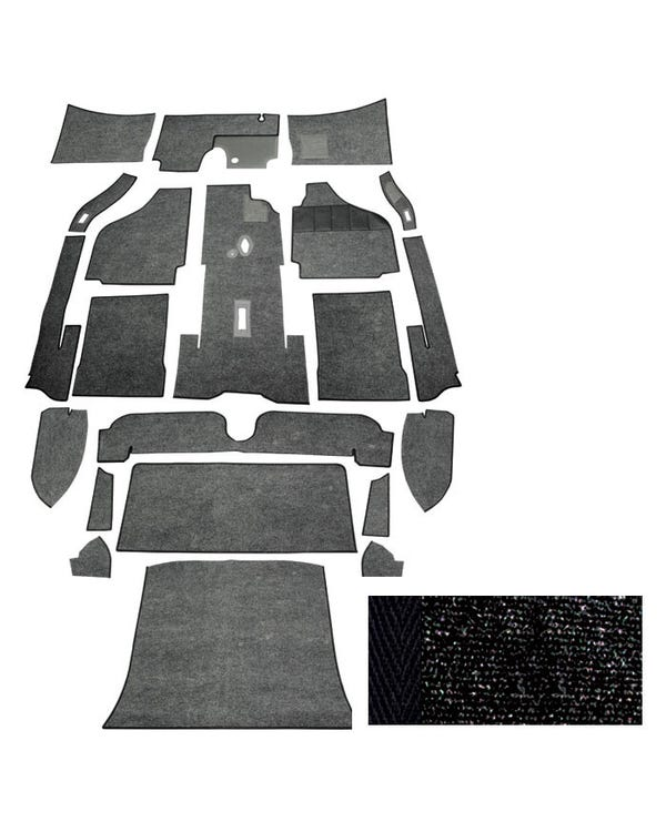 Carpet Set for Right Hand Drive Coupe Black