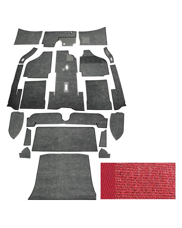 Carpet Set for Right Hand Drive Coupe Red
