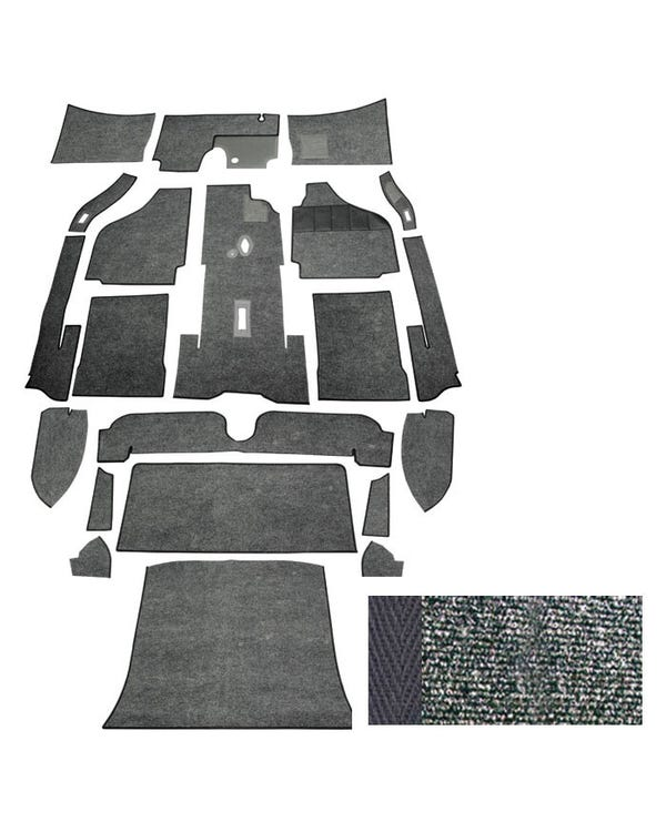 Carpet Set for Right Hand Drive Coupe Charcoal
