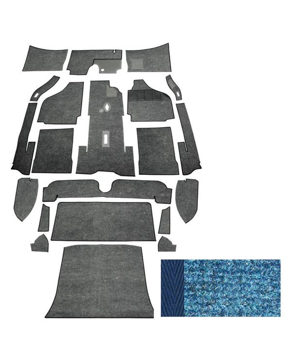 Carpet Set for Right Hand Drive Coupe Blue