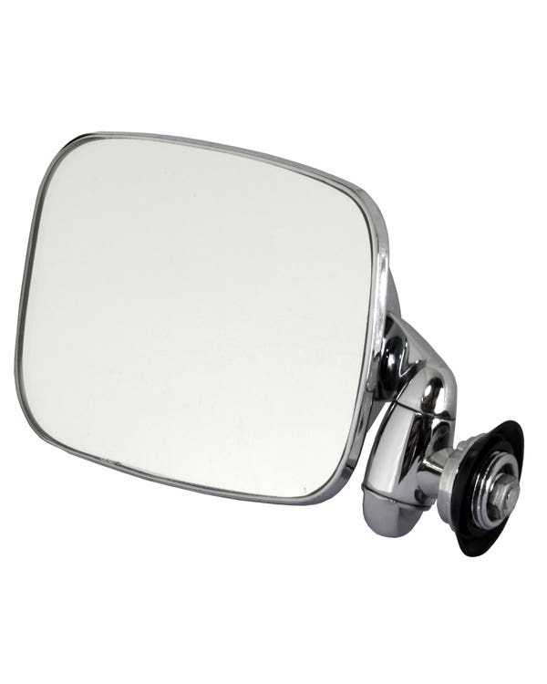 Door Mirror with Short Arm Stainless Steel for Left Hand Drive Left