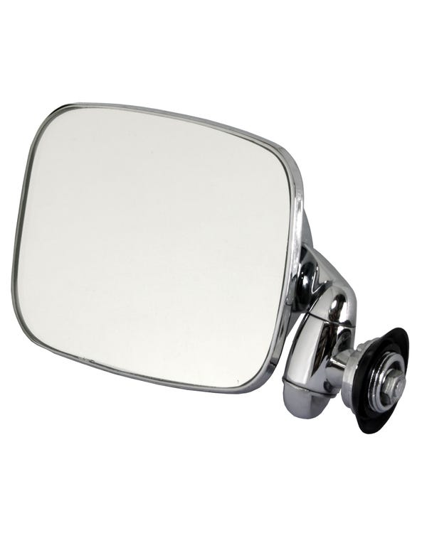 Wing Mirror with Short Arm Stainless Steel for Left Hand Drive Left