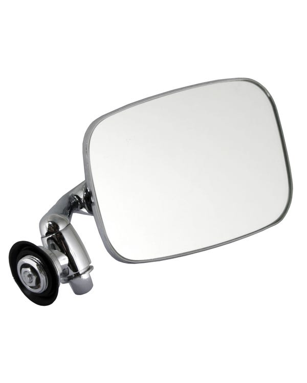 Wing Mirror with Long Arm Stainless Steel Right for Left Hand Drive