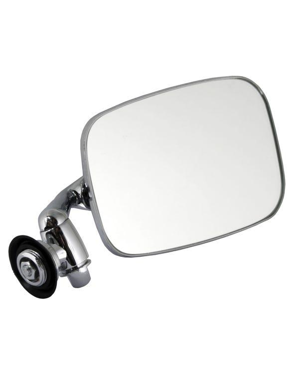 Außenspiegel mit langem Arm, Edelstahl, rechts für Linkslenker