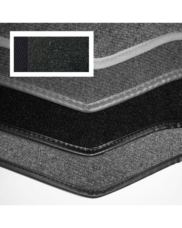 Carpet Set for Right Hand Drive Cabriolet Black