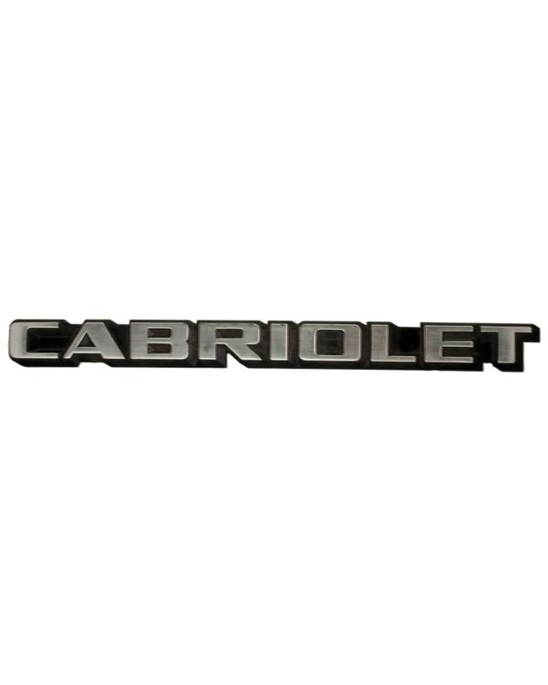 Emblema trasero ''Cabriolet''