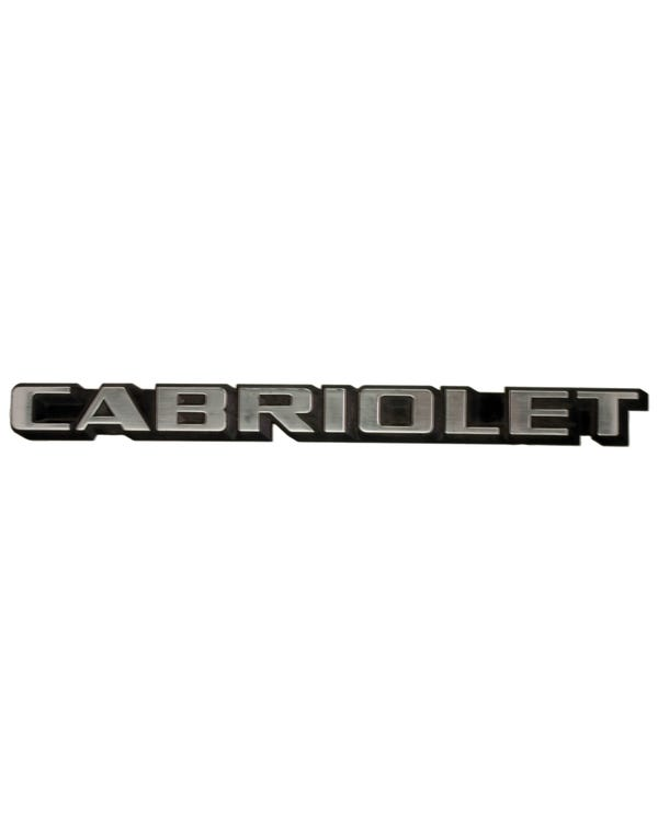 Rear Badge - Cabriolet Script