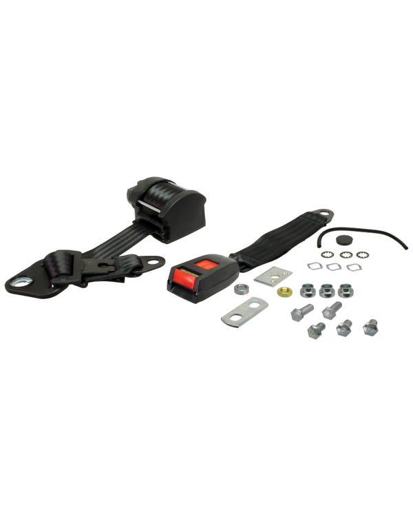 Dreipunkt-Automatikgurt, Rücksitz, mit schwarzem Gewebe