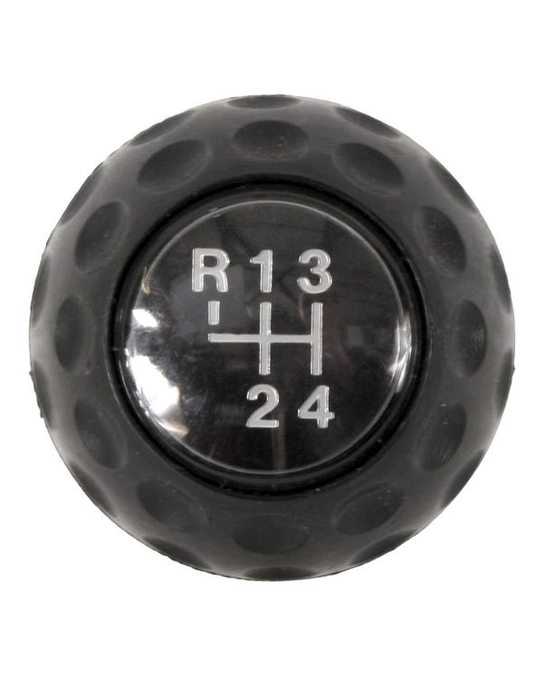 Golf Ball Gear knob 4 Speed Black