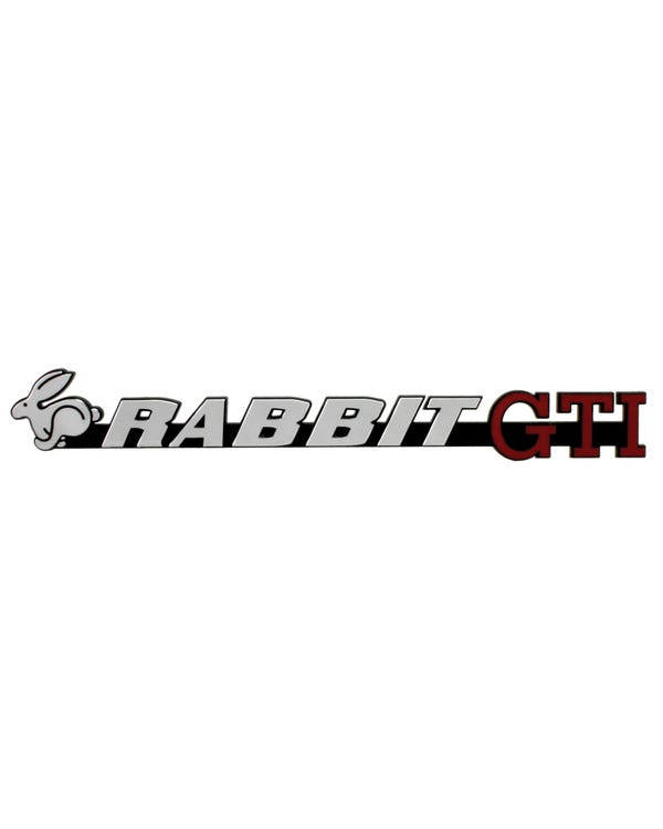 Tailgate Badge - Rabbit GTI Script