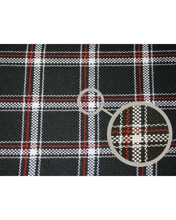 Series 1 GTI Fabric Red Black and White Plaid