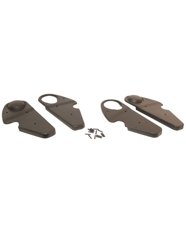 Hinge Cover Kit in Black for Both Front Seats