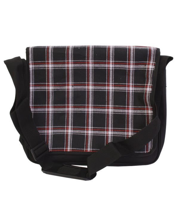 Courier Bag in MK1 GTI Series 1 Black and White Fabric