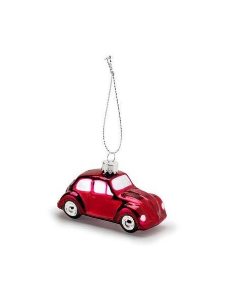 Christmas Tree Decoration Red VW Beetle