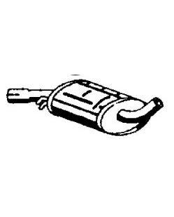 Silenciador central del escape de modelos 1.8 de carburador y GTI 8v