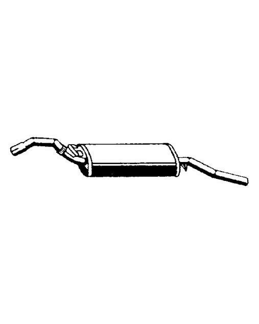 Silenciador trasero de escape de modelos de 1.8 con carburador