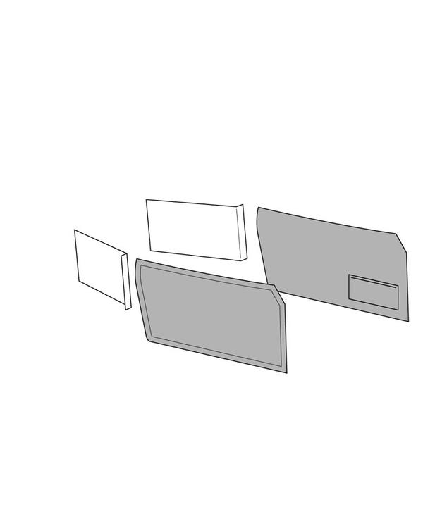 Front Door Card Set with Left Hand Door Pocket for Cabriolet in an OEM Style