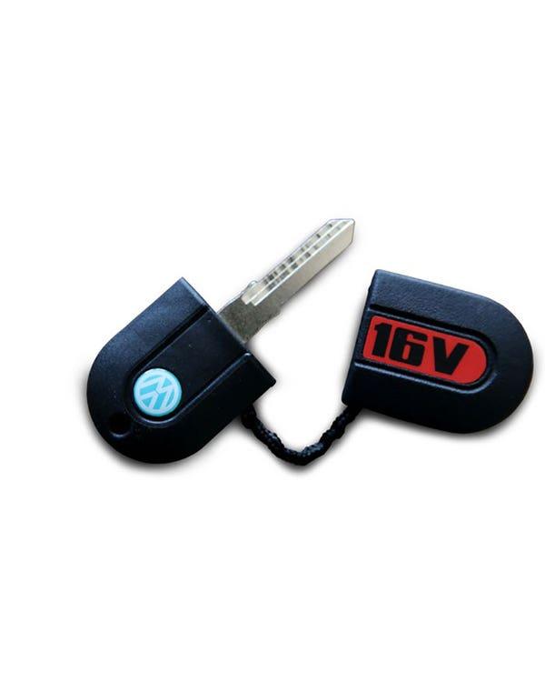Schlüsselrohling mit AH-Profil und 16v-Schlüsselbund-Abdeckung