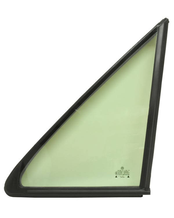 Front Door Fixed Quarter Light with Plain Seal, Green Tinted, Left