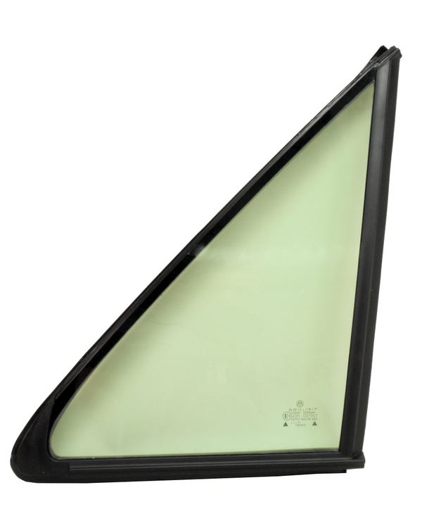 Front Door Fixed Quarter Light with Seal for Trim, Green Tinted, Left